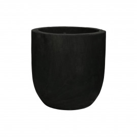 PURE - pot - paulownia hout - DIA 27 x H 26 cm - black