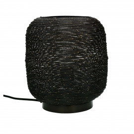 SHIARAN - table lamp - metal - DIA 25 x H 24 cm - antique black