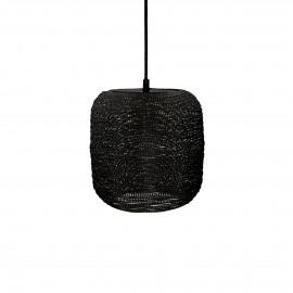 SHIARAN - hanging lamp - metal - DIA 15 x H 15 cm - antique black