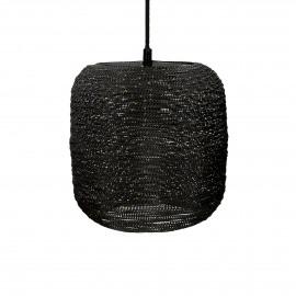 SHIARAN - hanging lamp - metal - DIA 24 x H 24 cm - antique black