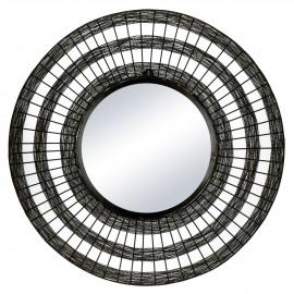SHIARAN - miroir - métal - DIA 70 x W 4 cm - noire antique