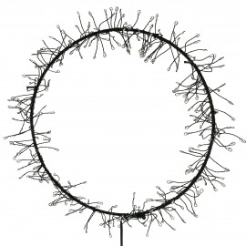 GLITTER - light wreath - iron - DIA 25 cm - black