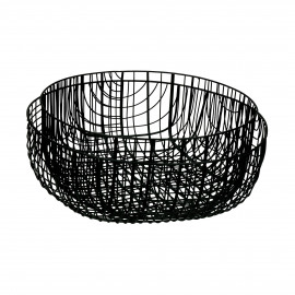 PATRONA - set/2 bowls - iron - DIA 28,5/33 x H 13/11 cm - black