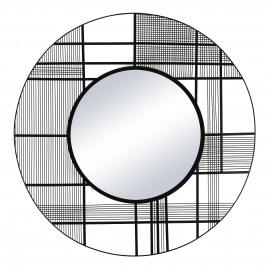 PATRONA - spiegel - ijzer / spiegelglas - DIA 95 x W 1,7 cm - zwart