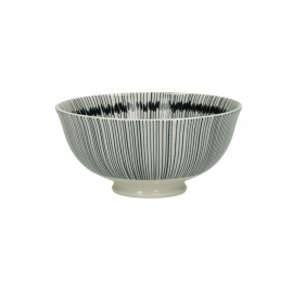 JUPON - kom - porselein - DIA 12 x H 6 cm - zwart