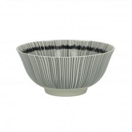 JUPON - kom - porselein - DIA 15 x H 7 cm - zwart