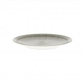 JUPON - dessert plate - porcelain - DIA 22 cm - greige
