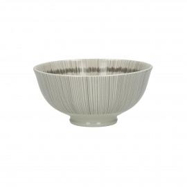 JUPON - kom - porselein - DIA 12 x H 6 cm - grijs/beige