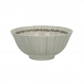JUPON - kom - porselein - DIA 15 x H 7 cm - grijs/beige