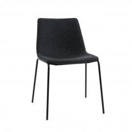 ROMO - chaise - tissu / métal - L 50 x W 58 x H 77 cm - anthracite