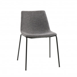 ROMO - chair - fabric / metal - L 50 x W 58 x H 77 cm - grey