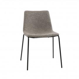 ROMO - chaise - tissu / métal - L 50 x W 58 x H 77 cm - sable