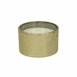 SPARKLE - scented candle - glass / wax - DIA 10 x H 7 cm - gold