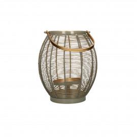 LYKT - lantern - metal / metal - DIA 25 x H 31,5 cm - taupe