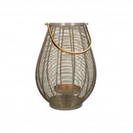 LYKT - lantern - metal / metal - DIA 29 x H 41 cm - taupe