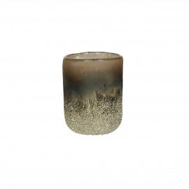 KUMPARE - vase - glass - DIA 8 x H 10 cm - silver