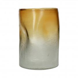 IGNIS - vase - glass - DIA 20 x H 28 cm - amber