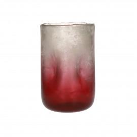 IGNIS - vase - glass - DIA 15 x H 23 cm - burgundy