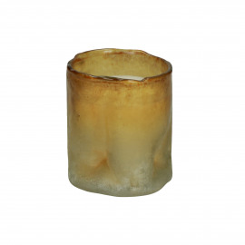 MOZE - scented candle - glass / wax - DIA 8 x H 9 cm - amber