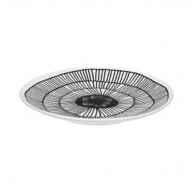 FRACTALE - dessert plate - porcelain - DIA 22 cm - black/white