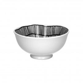 FRACTALE - bowl - porcelain - DIA 12 x H 6 cm - black/white