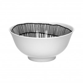 FRACTALE - bowl - porcelain - DIA 15 x H 7 cm - black/white