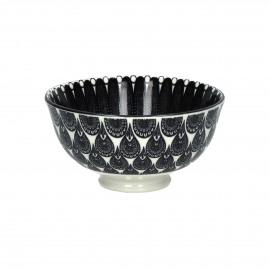 MUDRA - bowl - porcelain - DIA 12 x H 6 cm - black/white