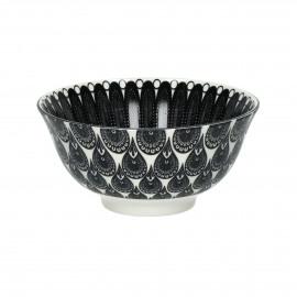 MUDRA - bowl - porcelain - DIA 15 x H 7 cm - black/white