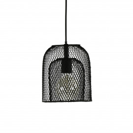 KABU - hanging lamp - iron - DIA 19 x H 22 cm - black
