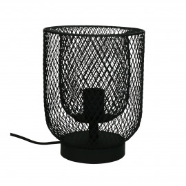 KABU - table lamp - iron - DIA 19 x H 25 cm - black