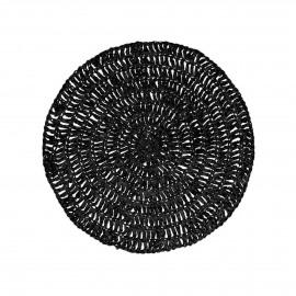 MEKKO - placemat - papier - DIA 38 cm - noir