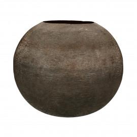 LUNA - vase - aluminium - DIA 30 x H 25 cm - brown