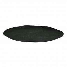 LUNA - tray - aluminium - DIA 43 x H 2 cm - anthracite