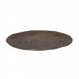 LUNA - tray - aluminium - DIA 32 x H 2 cm - copper