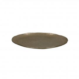 LUNA - tray - aluminium - DIA 27 x H 2 cm - gold