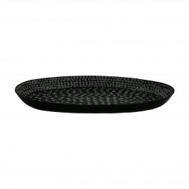 ZEBRA - tray - aluminium - L 45 x W 29 x H 4 cm - black