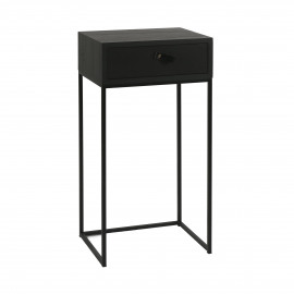 TOKIO - console with drawer - veneer - L 40 x W 30 x H 80 cm - black