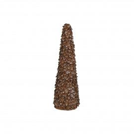 NUTS - x-mas tree - nutshell - DIA 8,5 x H 27 cm - caramel