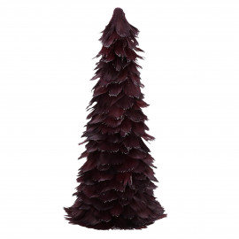 FIGARO - x-mas tree - feathers - H 60 cm - burgundy