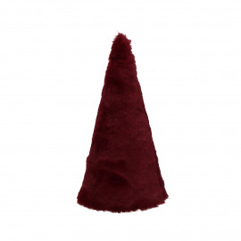 FURBY - x-mas tree - fake fur - DIA 9 x H 20 cm - red