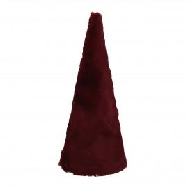 FURBY - x-mas tree - fake fur - DIA 12 x H 30 cm - red