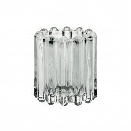 BROOKLYN CANET - t/light - glass / metal - DIA 6 x H 7 cm - clear