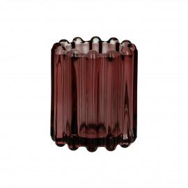 BROOKLYN CANET - t/light - verre / métal - DIA 6 x H 7 cm - pêche
