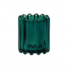 BROOKLYN CANET - t/light - glass / metal - DIA 6 x H 7 cm - teal