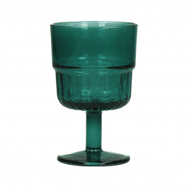 PANAMA - wine glass - glass - DIA 8 x H 13 cm - teal