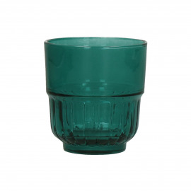PANAMA - gobelet - verre - DIA 8 x H 8,5 cm - teal