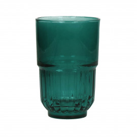 PANAMA - long drink  - glass - DIA 8 x H 12,5 cm - teal