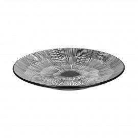FROISSÉ - dessert plate - porcelain - DIA 22 cm - black