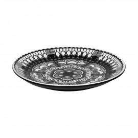 DOURA - dessert plate - porcelain - DIA 22 cm - black