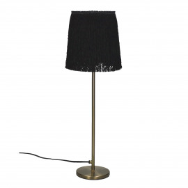FROU' - lamp - iron / cotton - DIA 14 x H 47 cm - black